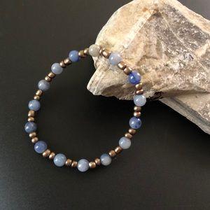 Blue Aventurine Beaded Bracelet
